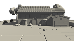 The Simpsons house, WIP 3D environment. by DaXetiK