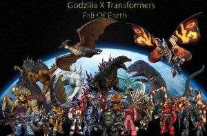 Godzilla X Transformers Fall Of Earth by Connorgodzilla