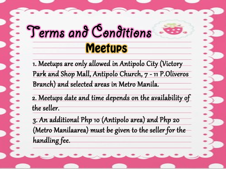 Terms and Conditions-Meetups by nicaneko