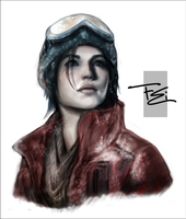 Turning Point Web - ROTTR Lara Portrait by FearEffectInferno
