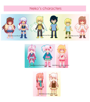 My main charas {CONTEST ATTACHED} by Rockabell-Neko