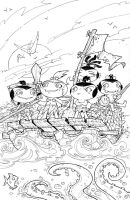 Pocket God 10: Inked Cover by RoloMallada
