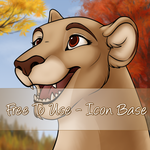 Autumn Icon base - Lion and Lioness by Starwuff