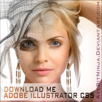 Mena Suvari - Illustrator CS5 File - Gradient Mesh by Atebitninja