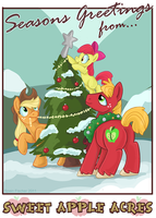 Seasons Greetings from Sweet Apple Acres by sophiecabra