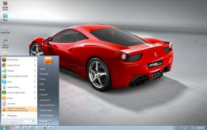 458-Italia windows 7 theme by windowsthemes