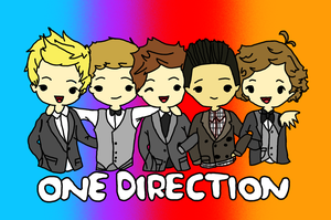 One Direction Cartoon coloured by Gilly-Bird