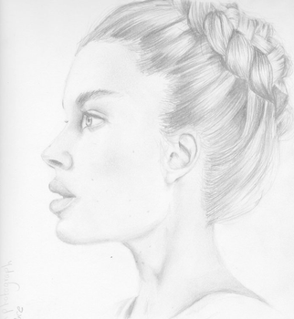 Drawing Of A Sideview Face 1 by magicalmermaidcat