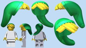 LEGO Link's Cap DX by mingles