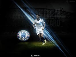 Eden Hazard Wallpaper  + PSD by daWIIZ