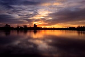 Evening Gold II by verycre8iv