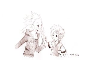 7::10 + Axel and Roxas + by Aiori