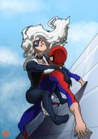 Black Cat and Spidey went up the... by Samuel-Hunter