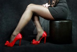 fine line and red shoes by Aszap