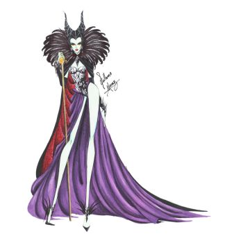Maleficent in Haute Couture by frozen-winter-prince