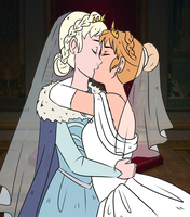 Elsanna wedding (drawing 7) by Arendellecitizen