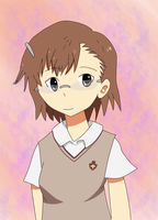 Misaka wearing Glasses by 00Stevo