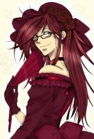 Grell Sutcliff with dress by DarkEvilCristina
