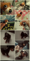 Dogs sculptures by Gamibrii