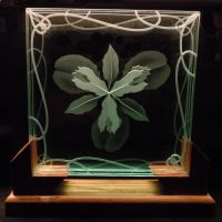 Etched Iris layered glass design by ImaginedGlass