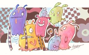 Family of blob-squids by inkylinkyboooo