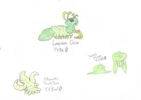 YellowGreen: Caterpillars by Orima-Kazooie