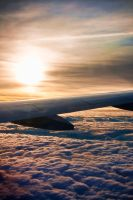 sunset above clouds by mephisto23