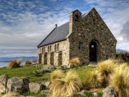 Lake Tekapo Chapel by Deceptico
