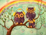 Hipster owls. by SpYnta