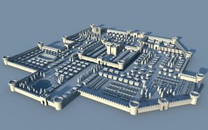 Medieval city - 3D map. by cr8g