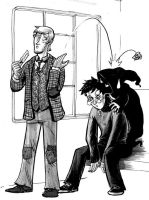 Lupin, Harry, and a dementor by heymatt