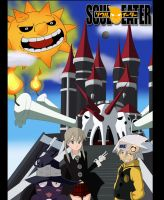 Soul Eater Maka and Soul by SaroTheHedgehog