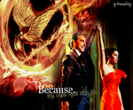 Because she came here with me. - The Hunger Games by PrincessPatsy