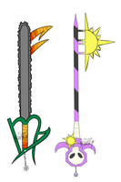 Kanaya and Rose keyblade by MissKvitulven