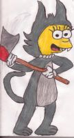 Lisa as Scratchy by sideshowbobfanatic