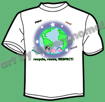 TEE DESIGN: Recycle, Reuse, RESPECT 2012 by Crystal-Moore
