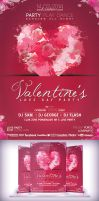 Valentines Love Day Party Flyer by Cata05