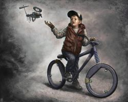 A Boy and his Drone by Gizmoatwork