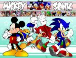 Sonic and Mickey by jongraywb