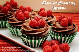 Dark Chocolate Raspberry Cupcakes by TreyaLynn