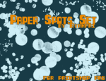 Paper Spots set of 14 by byrnfri-resources