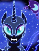 Neon Nightmare Moon by ZantyARZ