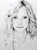 Caroline Forbes in progress by jeanetkristensen