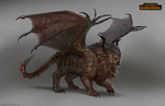 Total War: Warhammer Concept Art Manticore sketch by telthona