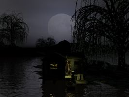 Nightime in the Bayou by DarkRiderDLMC