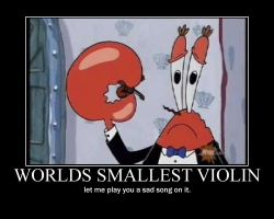 worlds smallest violin poster by Dr-J33