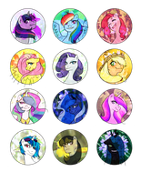 pony buttons by EtrnlPeace