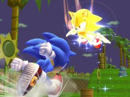 Sonic VS Super Sonic by Death199
