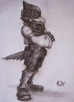 Falco Lombardi Pencil Drawing by Spectrum-VII