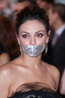 Mila Kunis taped by ikell